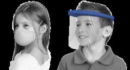 Mascarillas protección coronavirus para niños, mascarillas infantiles, mascarillas pequeñas. Pantallas para niños, pantallas de protección coronavirus para niños.